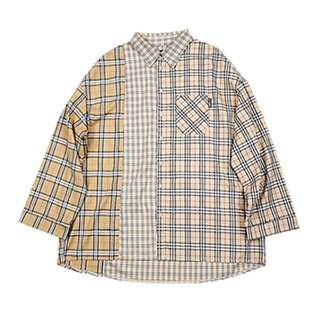 Ulzzang Checkered Khaki Outerwear/ Shirt