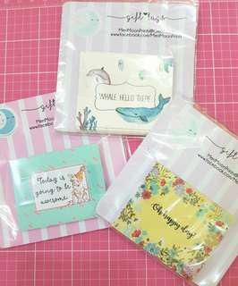 Folded gift tags - 3 designs 18pcs