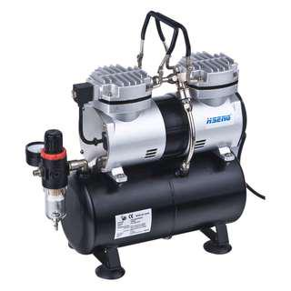 Airbrush Twin cylinder Air compressor with tank