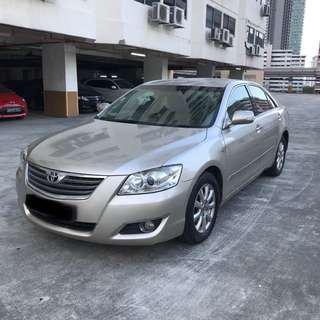 TOYOTA CAMRY 2.0A GOLD FOR RENT (GRAB FRIENDLY)
