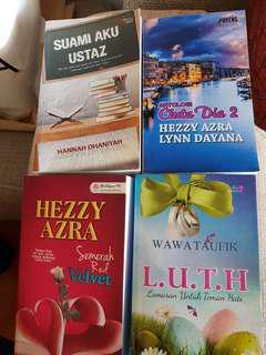 Novel Melayu 4 used novels