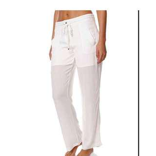 Women's FATE Tides Have Turned White Festival Pants Size 8