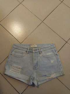 Women denim short