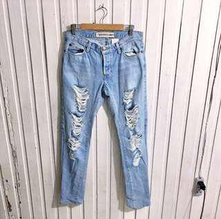 Gap skinny ripped jeans