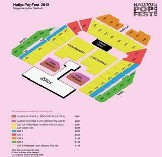 HALLYUPOP FEST DAY 2 CAT 1 TICKETS (1 pair)