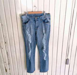 Plus size faded glory ripped jeans