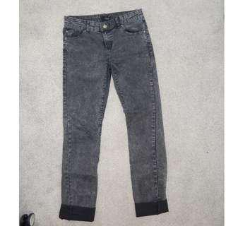 Women's Ava and Ever Acid Wash Black Jeans Stretch Size 10