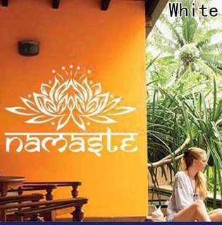 Namaste Lotus Flower Wall Decor Stickers