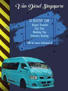 13 Seater Mini Bus For Hari Raya Booking....with Drivers.