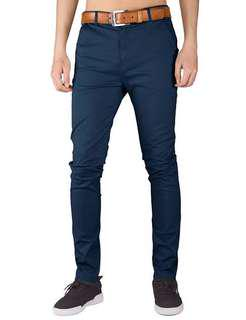 Hugh quality chino navy mens wear