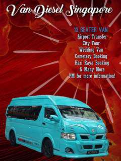 13 Seater Van for Hari Raya booking......with Driver.