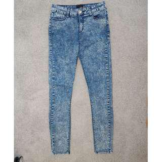 Women's Ava and Ever Blue Acid Wash Jeggings Size 10