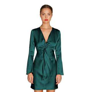 BNWT Cooper St Kathryn Twist Mini Dress - Emerald Green sz 10