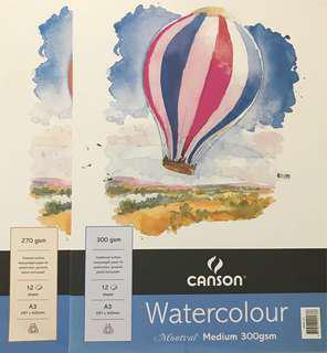 Canson Water colour papers 300gsm and 270gsm