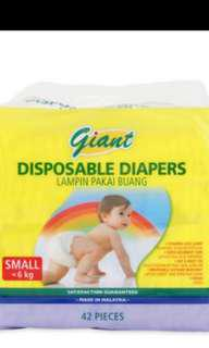 Giant S size diapers