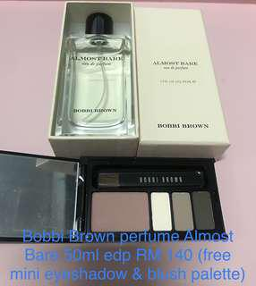 Perfume 50 bath from Bobbi Brown (free natural eyeshadow and blush palette) in RM 140