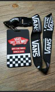 In stock brand new vans off the wall lanyard and card holder