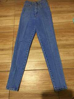 High Waisted Denim Jeans from Japan (26 inches waist line)