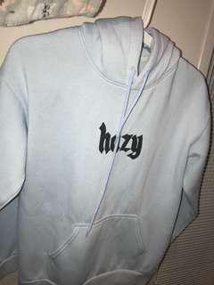 Blue hoodie sweatshirt