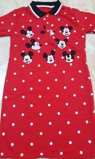 Mickey Mouse Dress w Polka Dots