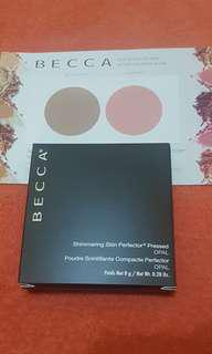Becca Shimmering Skin Perfector Pressed Highlighter in Opal (full sized with box) Free sample Card (Sephora PH price Php2235)
