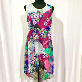 Max UK Brand Summer High Low Dress