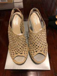 BRAND NEW INNOVARE leather Sandal Wedge size 37.5