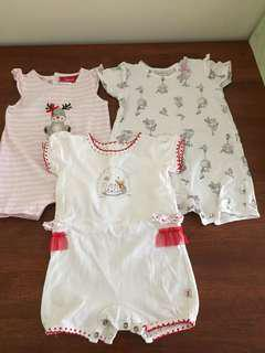 Baby girl size 000 summer clothing