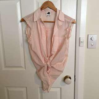 Glue store button up vest