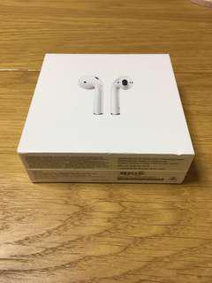 Apple AirPods 100%全新未開封(有單、購自Apple Store)