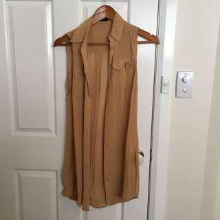 Size XS sheer button up dress