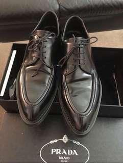 Authentic Prada Men Laced Up Black Dress Shoes