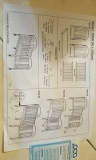 Moving Out Sale RM 200 only!! Wood Baby Cot