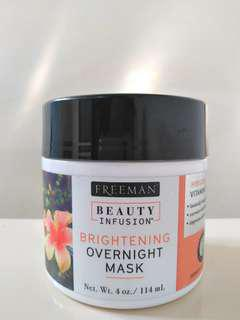Freeman beauty infusion brightening overnight mask