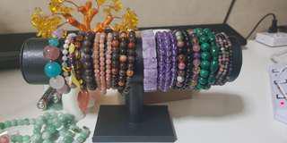 NEW! Natural Crystal Bracelets