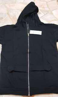 Hoody Jacket w Pockets Blk / Wht