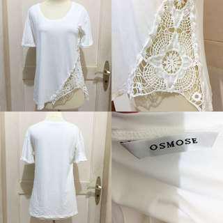 Esmose guipure white top