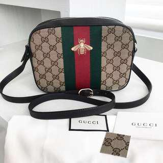 Gucci disco mono bee With db tag sample leather  *chabzr