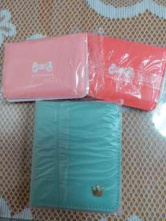 蝴蝶皇冠卡包 細款:粉紅,橙紅 大款:粉藍