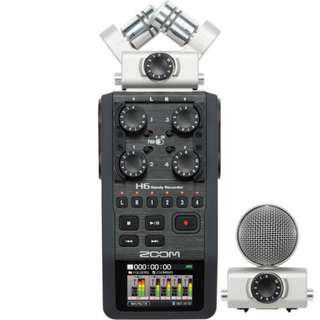 Zoom H6 w/interchangeable Mic Set | Video Equipment Rental Per Day