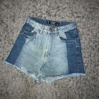 $13 MAILED FAST DEAL NOW Factorie Dual Tone / Duo Tone Denim High Waisted Shorts