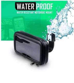 Waterproof phone holder for aerox nmax mio honda click beat wave dash suzuki smash raider skydrive kawasaki fury rouser gixxer fz sz rusi racal sym euro bmw sniper mx tmx barako