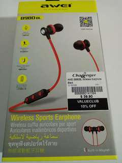 Wireless Sports Earphones (Black)