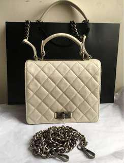 Chanel(象牙白)復刻油腊牛皮包(此款包包易於保養、耐髒~小可愛,超實用!❤️喜歡的⋯,不要錯過喔!