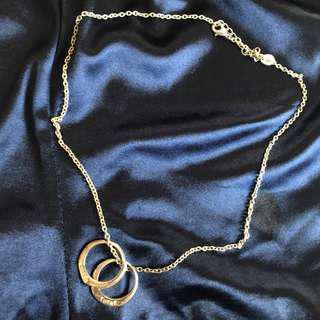 🚚 雙環設計銀色項鍊