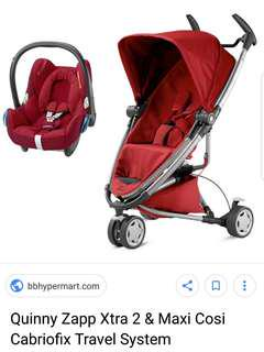 Quinny stroller(zapp extra) and infant car seat(maxi-cosy)