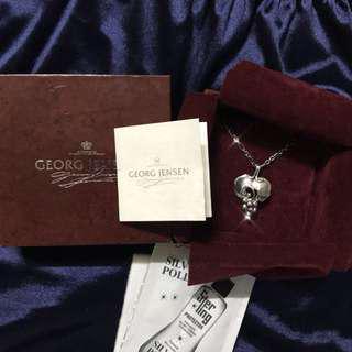 🚚 二手georg jenson棗紅盒 1996年度 葡萄葉 葡萄 925純銀 項鍊 真品
