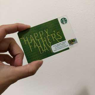 STARBUCKS USA Fathers Day Limited Edition Card