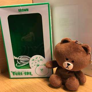 絕版日本版speaker Line Friends 熊大Speaker喇叭