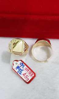 18k Saudi Gold Mens Ring
